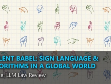 A silent babel: sign language & algorithms in a global world